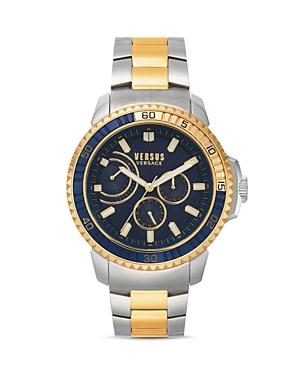 Versus Versace Versus Aberdeen Two-Tone Link Bracelet Watch, 45mm