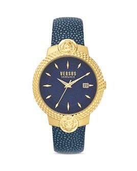 Versus Versace - Versus Mouffetard Leather Strap Watch, 38mm
