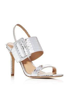 Via Spiga - Women's Macyn Macyn Snake-Embossed High-Heel Sandals