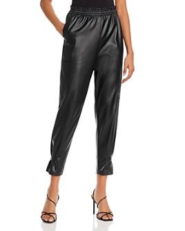 Lucy Paris - Faux Leather Cargo Pants - 100% Exclusive