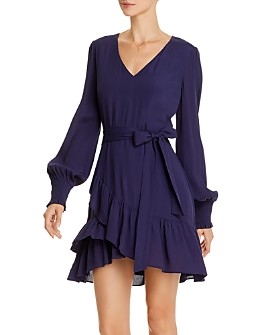 AQUA - Ruffle-Hem Dress - 100% Exclusive