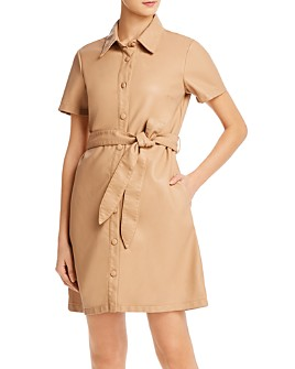 BLANKNYC - Faux Leather Shirt Dress