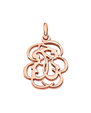 Tous 18K Rose Gold-Plated Sterling Silver Small Rubric Pendant