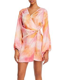 Art Dealer - Brooke Tie-Dyed Wrap Dress