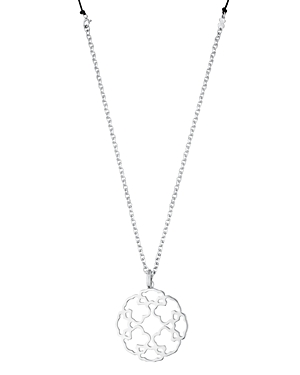 Tous Sterling Silver & Nylon Mosaic Pendant Necklace, 35.5