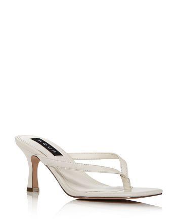 AQUA - Women's Elsie High-Heel Thong Sandals - 100% Exclusive