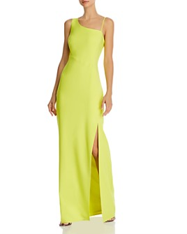 Laundry by Shelli Segal - Asymmetric Luxe Crepe Gown