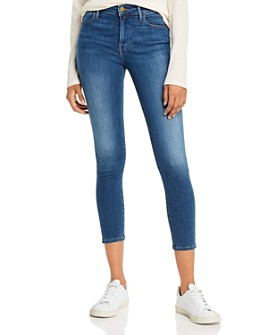 FRAME - Le High Skinny Crop Jeans in Sulham