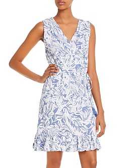 Tommy Bahama - Sleeveless Palm-Print Dress