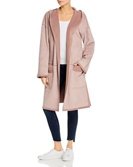 b new york - Knit Hooded Oversized Coat