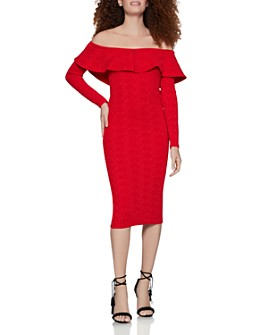 BCBGENERATION - Off-the-Shoulder Jacquard Dress