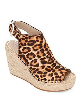 Kenneth Cole - Women's Olivia Leopard-Print Wedge-Heel Sandals