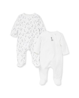 Little Me - Unisex Giraffe Footie, 2 Pack - Baby