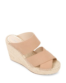 Kenneth Cole - Women's Olivia Espadrille Crisscross Wedge Slide Sandals