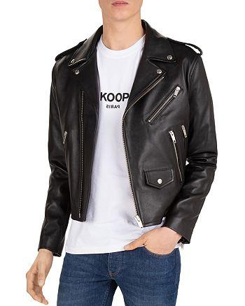 The Kooples - Gobi Leather Cropped Moto Jacket