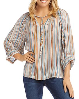Karen Kane - Striped Peasant Top