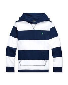 Ralph Lauren - Boys' Striped Hooded Tee - Big Kid