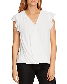 VINCE CAMUTO - Flutter Sleeve Wrap-Front Top