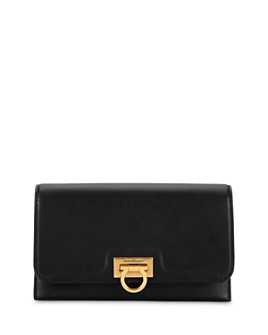 Salvatore Ferragamo - Gancini Leather Chain Wallet Crossbody