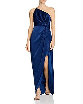 Aidan by Aidan Mattox - One-Shoulder Draped Charmeuse Gown - 100% Exclusive