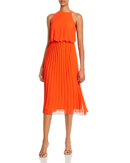 Sam Edelman - Pleated-Skirt Midi Dress