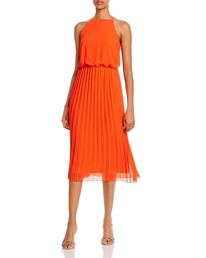 Sam Edelman - Pleated-Skirt Midi Dress