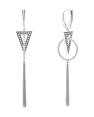 Lagos Sterling Silver Signature Caviar Triangle Circle Drop Earrings-Jewelry & Accessories