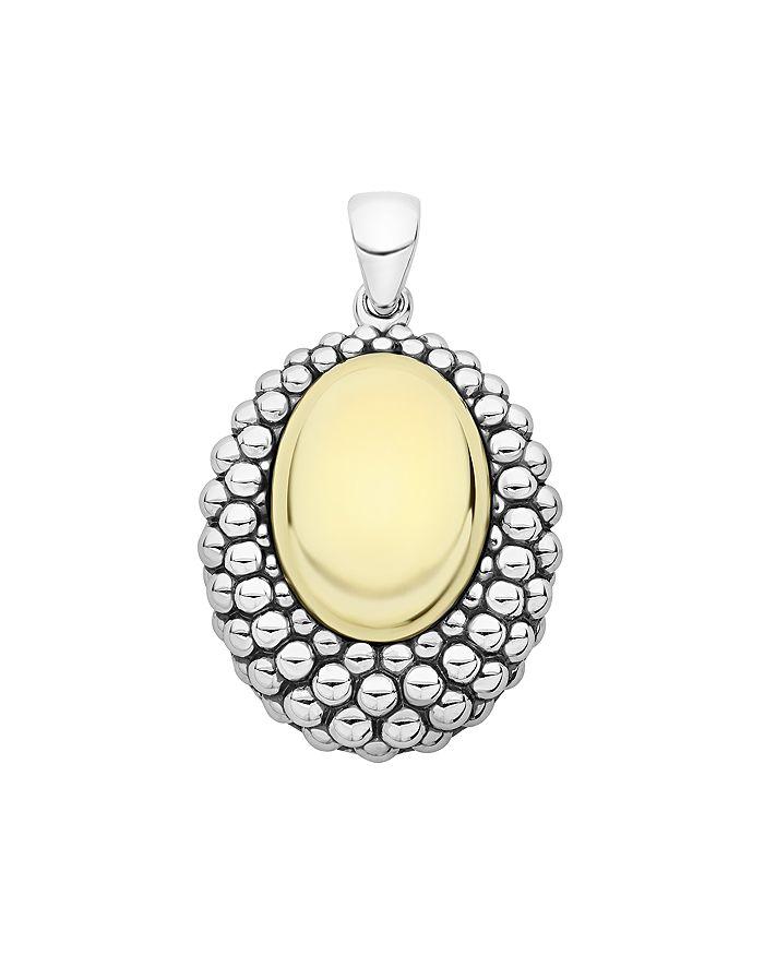 LAGOS - Sterling Silver & 18K Yellow Gold High Bar Large Pendant
