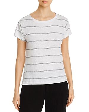 Eileen Fisher Petites Organic Linen Striped T-Shirt