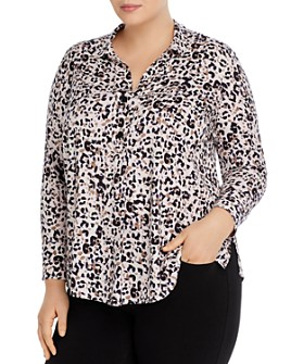 NIC and ZOE Plus - Plus Femme Cheetah-Print Blouse