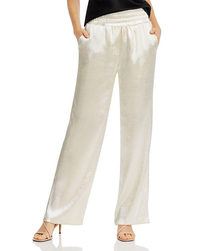 Cinq à Sept - High-Waist Satin Soft Pants