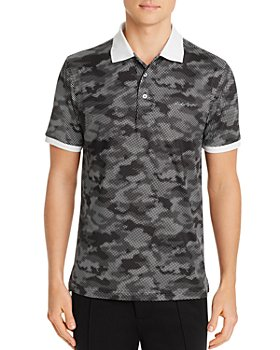 KARL LAGERFELD PARIS - Slim Fit Cotton Camo Polo