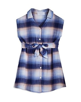 Bella Dahl - Girls' Plaid Belted Dress - Little Kid, Big Kid