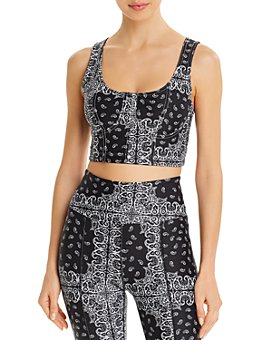 Year of Ours - Dolly Bandana-Print Sports Bra