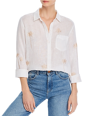 Rails Charli Glitter Palm Print Shirt-Women