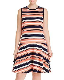 MICHAEL Michael Kors Plus - Striped Sleeveless Dress