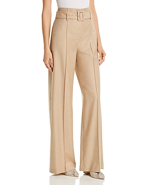 Theory BELTED WIDE-LEG PANTS