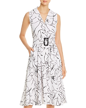 T Tahari Sleeveless Shirtdress