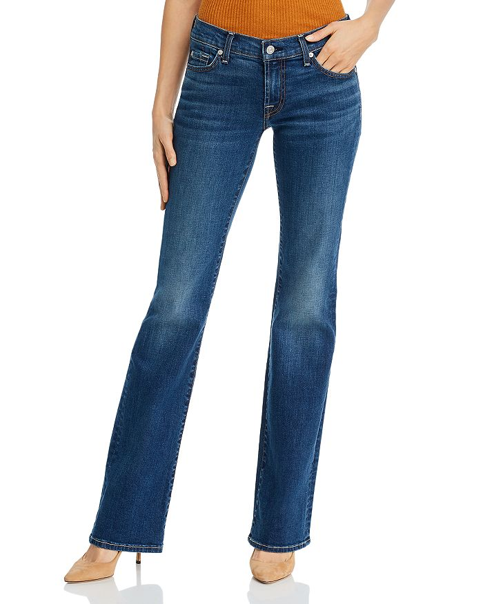 7 For All Mankind - Low-Rise Original Bootcut Jeans in NY Dark