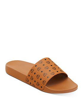 MCM - Women's Logo Slide Sandals