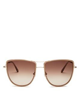 Tom Ford - Women's Tina Brow Bar Aviator Sunglasses, 59mm