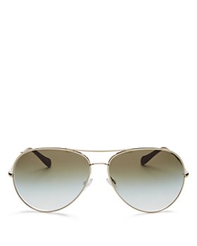 Oliver Peoples - Women's Sayer Brow Bar Aviator Sunglasses, 63mm