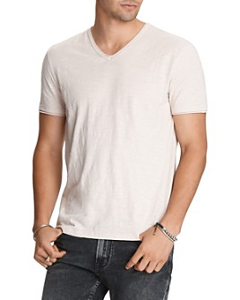 John Varvatos Star USA - Miles Cotton Raw-Edge Tee