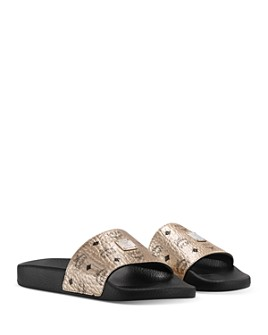 MCM - Women's Visetos Slide Sandals