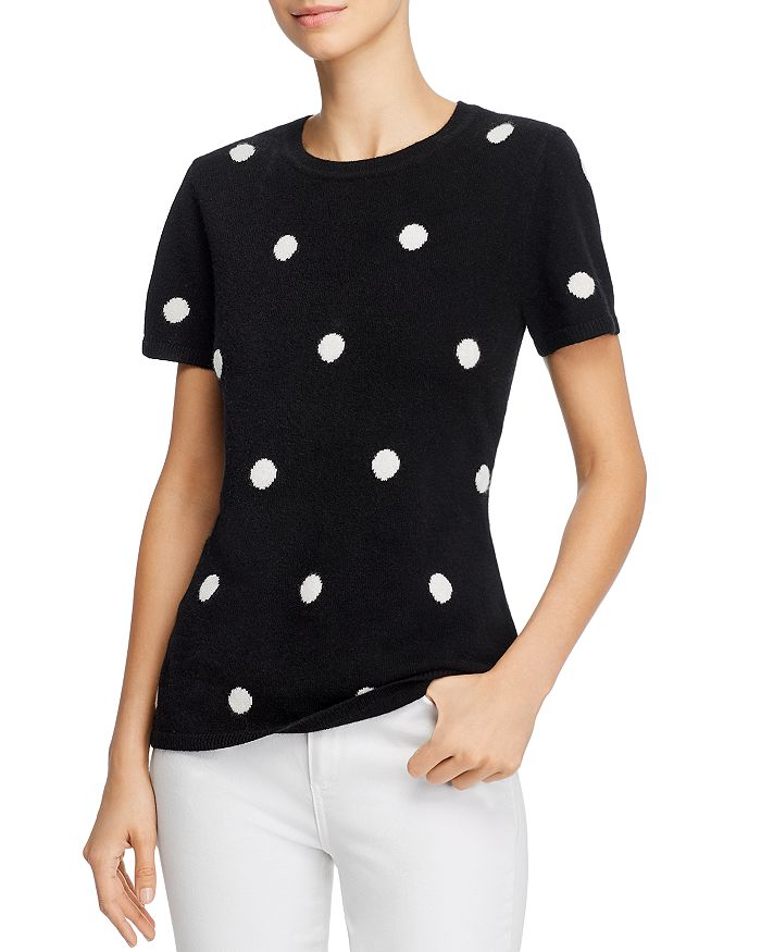C by Bloomingdale's - Cashmere Polka-Dot Sweater - 100% Exclusive