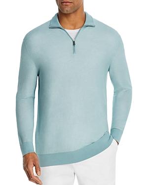 The Men\\\'s Store at Bloomingdale\\\'s Cotton Textured Half-Zip Sweater - 100% Exclusive-Men