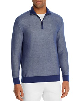 The Men's Store at Bloomingdale's - Cotton Textured Half-Zip Sweater - 100% Exclusive