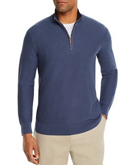 The Men's Store at Bloomingdale's - Tipped Half-Zip Textured Sweater - 100% Exclusive