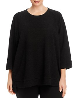 Eileen Fisher Plus - Textured Crewneck Top