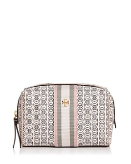 Tory Burch - Gemini Link Mini Canvas Cosmetic Case